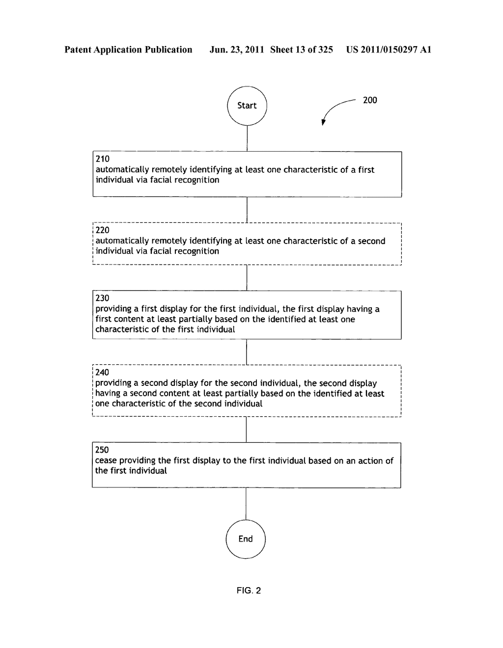 Identifying a characteristic of an individual utilizing facial recognition     and providing a display for the individual - diagram, schematic, and image 14