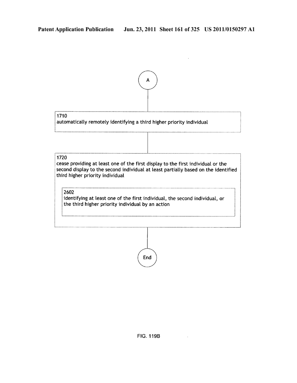Identifying a characteristic of an individual utilizing facial recognition     and providing a display for the individual - diagram, schematic, and image 162