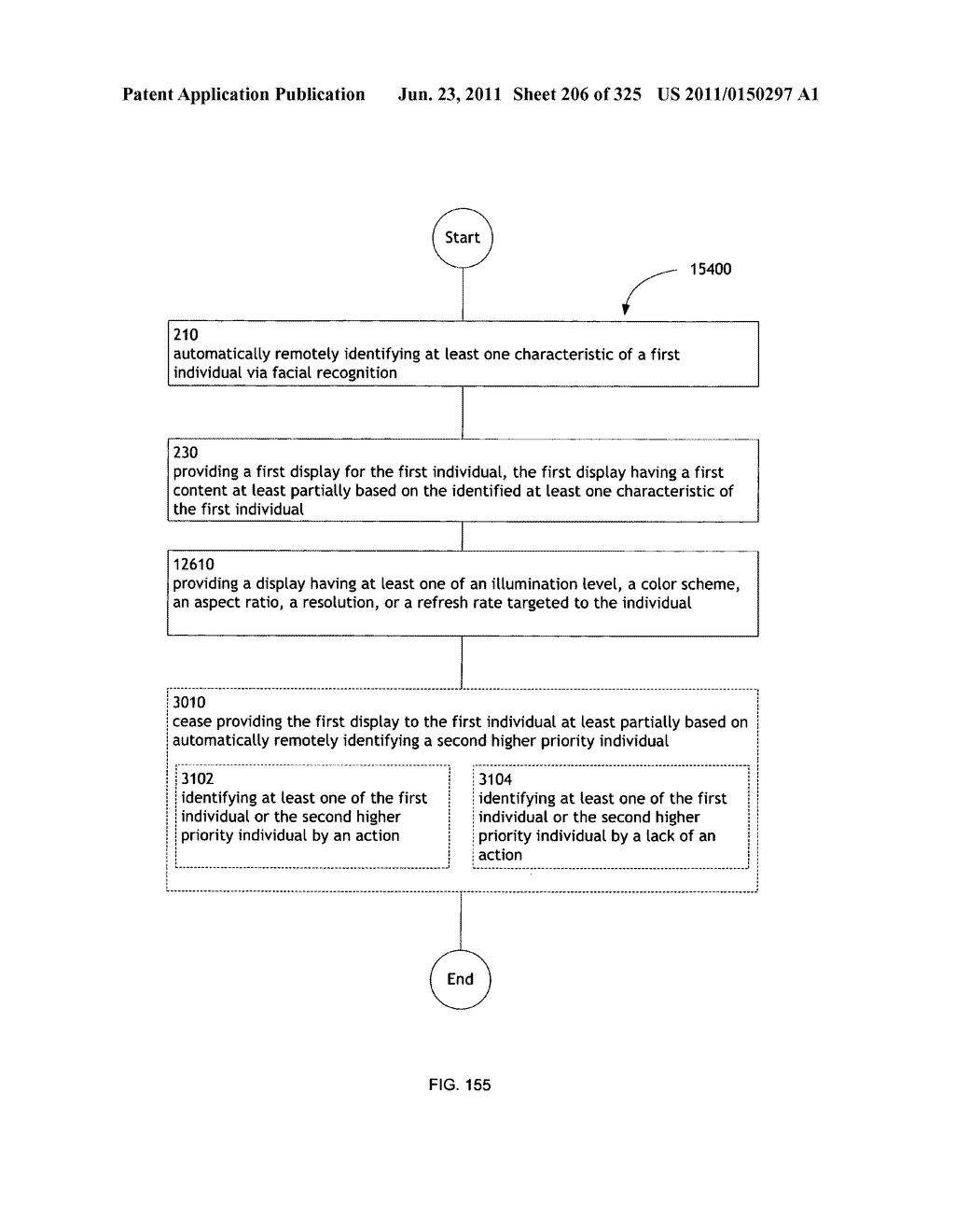 Identifying a characteristic of an individual utilizing facial recognition     and providing a display for the individual - diagram, schematic, and image 207