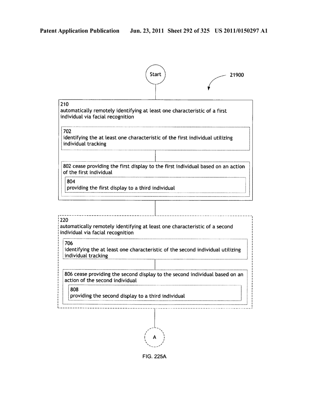 Identifying a characteristic of an individual utilizing facial recognition     and providing a display for the individual - diagram, schematic, and image 293