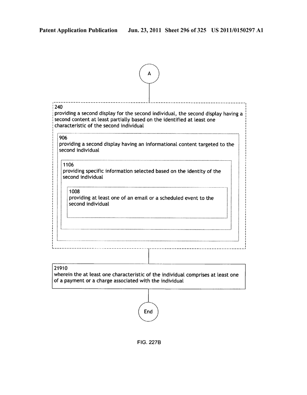 Identifying a characteristic of an individual utilizing facial recognition     and providing a display for the individual - diagram, schematic, and image 297