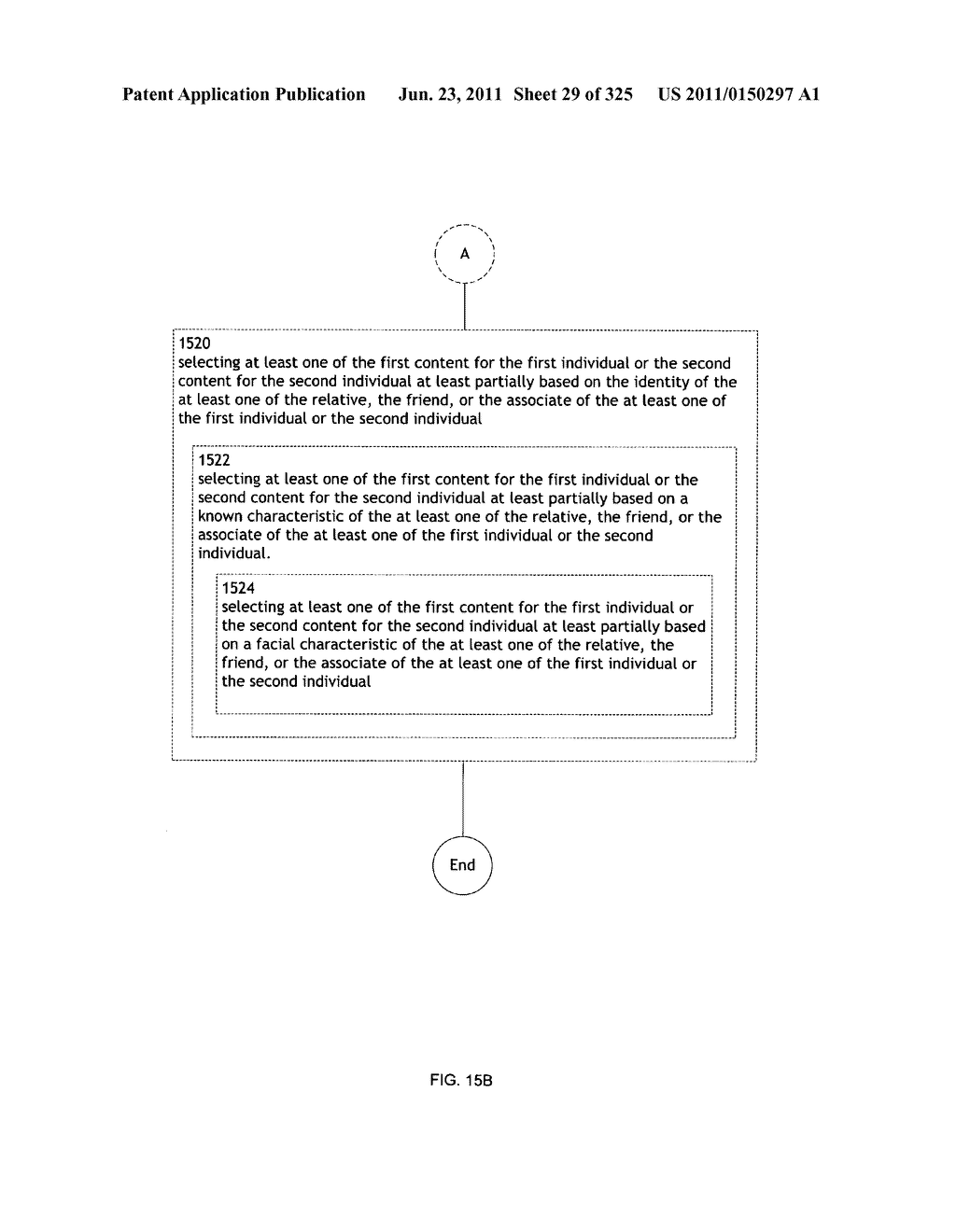 Identifying a characteristic of an individual utilizing facial recognition     and providing a display for the individual - diagram, schematic, and image 30