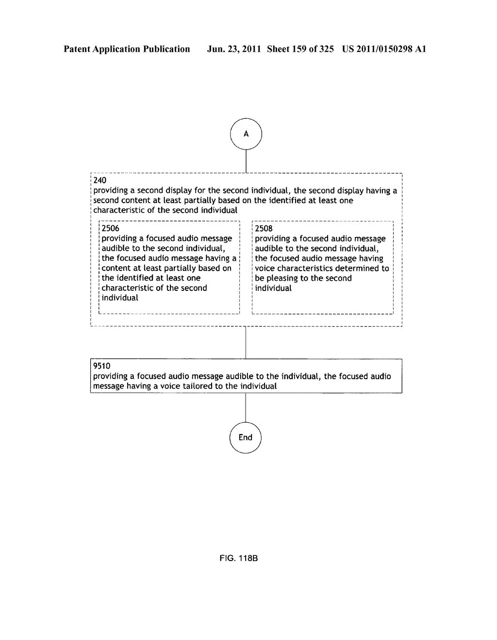 Identifying a characteristic of an individual utilizing facial recognition     and providing a display for the individual - diagram, schematic, and image 160