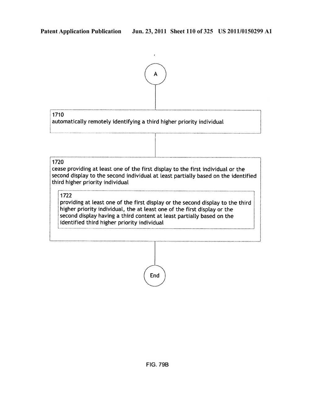 Identifying a characteristic of an individual utilizing facial recognition     and providing a display for the individual - diagram, schematic, and image 111