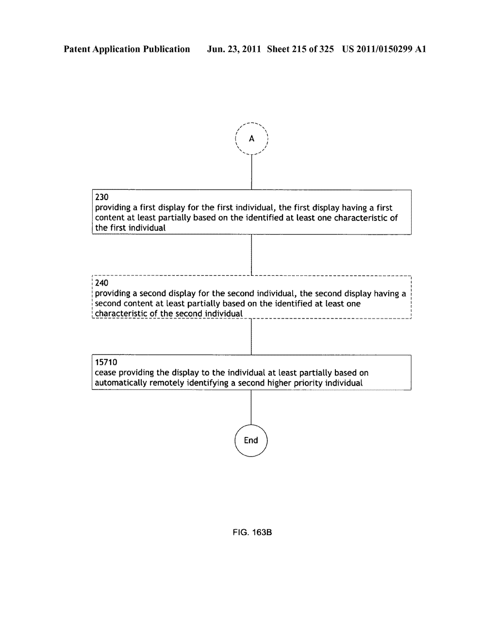 Identifying a characteristic of an individual utilizing facial recognition     and providing a display for the individual - diagram, schematic, and image 216