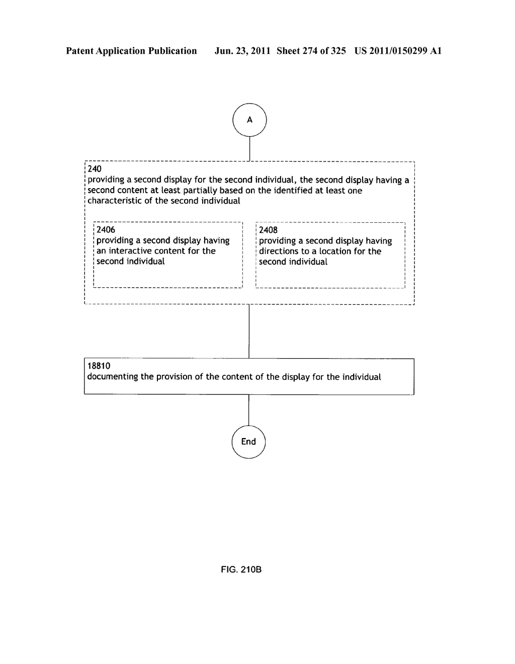 Identifying a characteristic of an individual utilizing facial recognition     and providing a display for the individual - diagram, schematic, and image 275