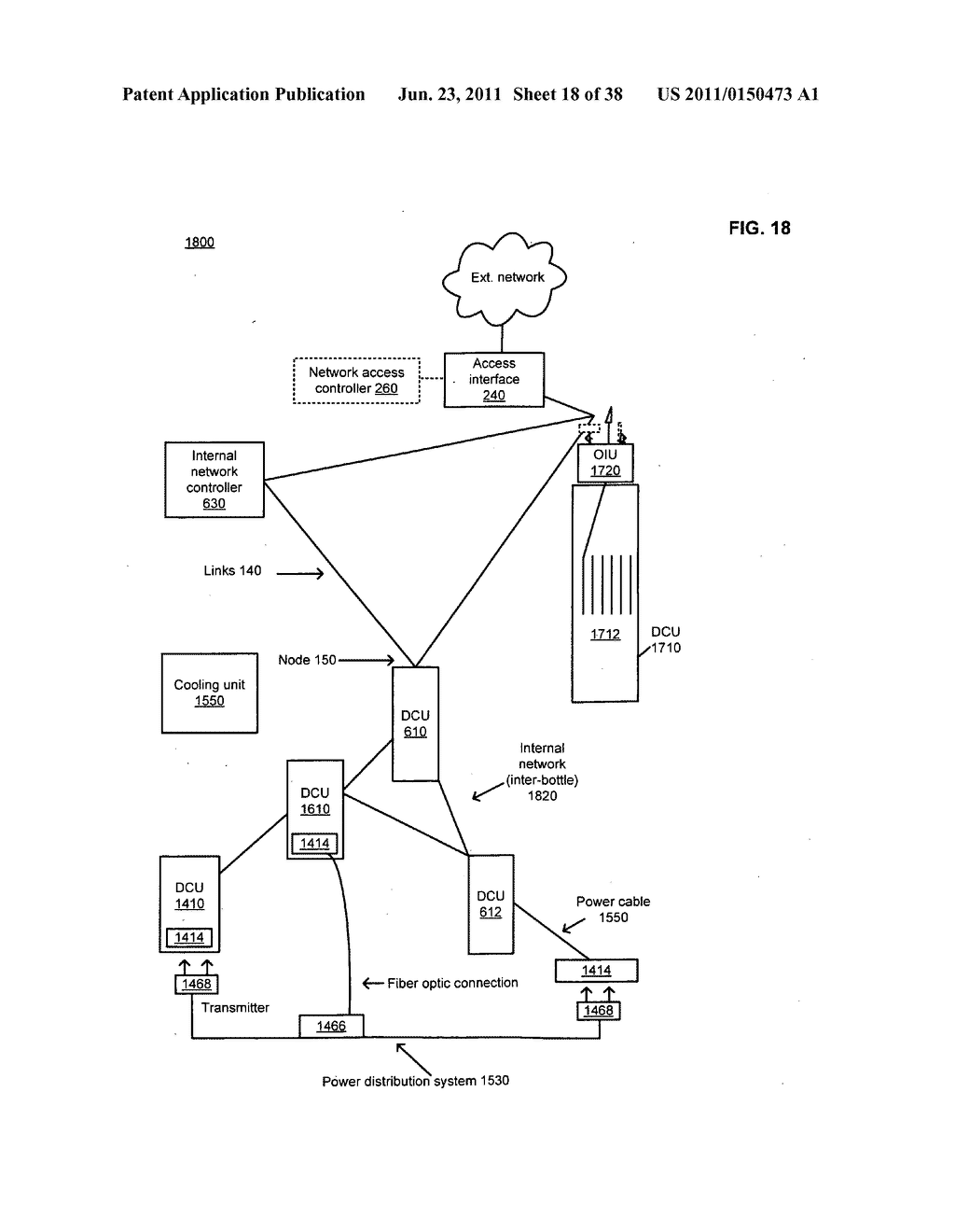 Data center with free-space optical communications - diagram, schematic, and image 19