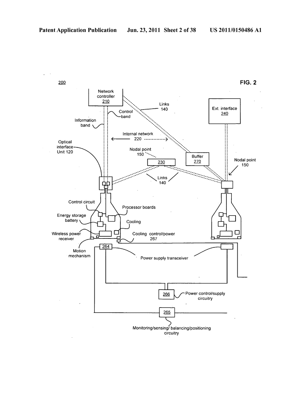 Data centerr with free-space optical communications - diagram, schematic, and image 03