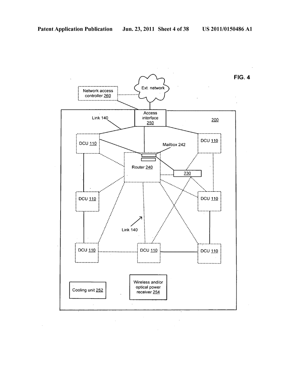 Data centerr with free-space optical communications - diagram, schematic, and image 05