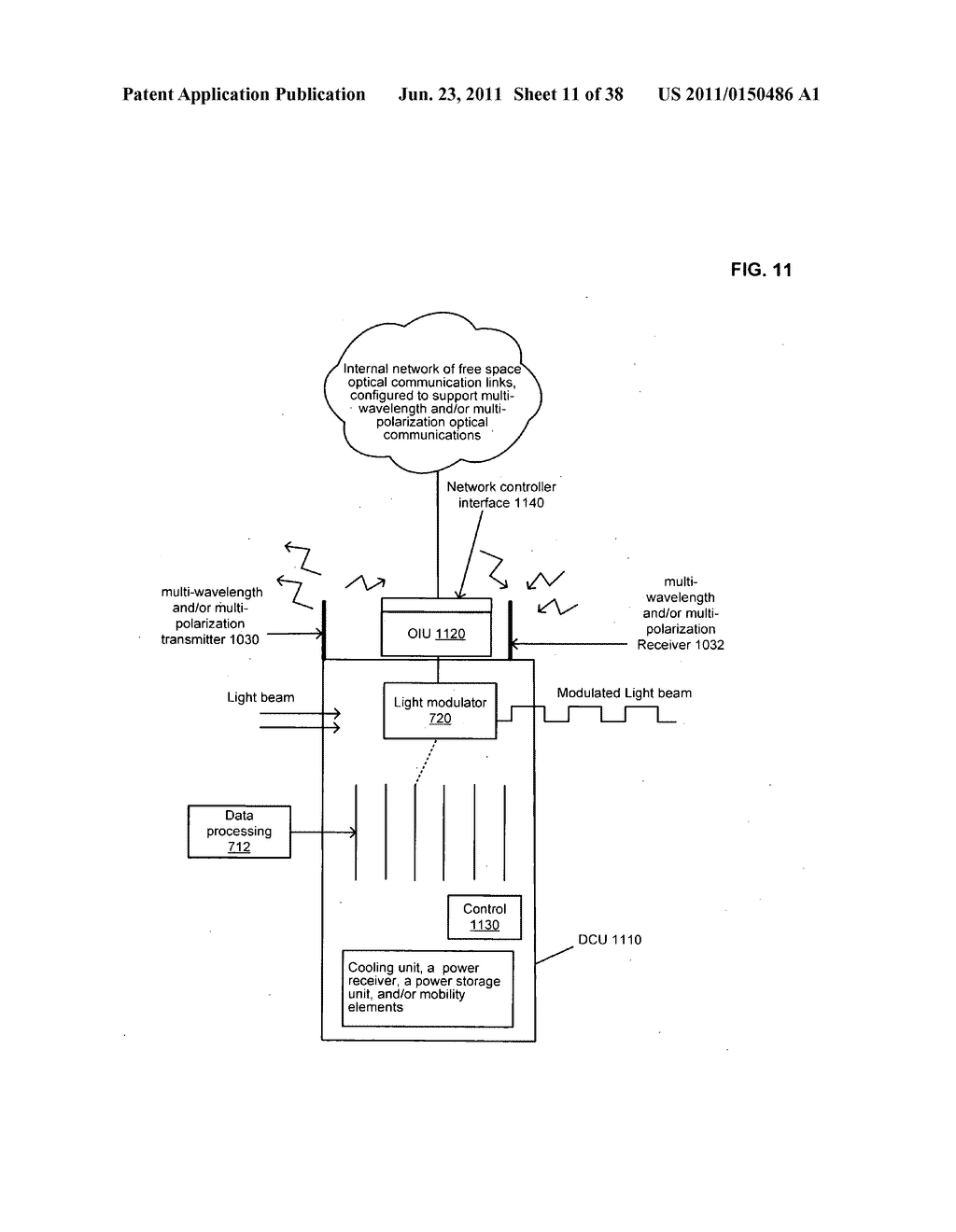 Data centerr with free-space optical communications - diagram, schematic, and image 12