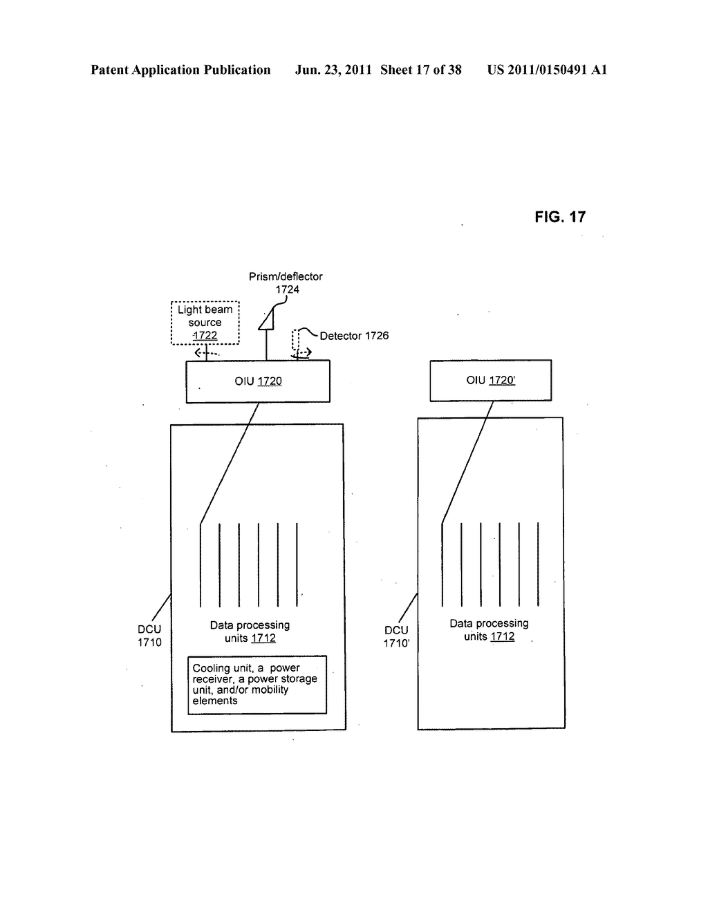Data center with free-space optical communications - diagram, schematic, and image 18