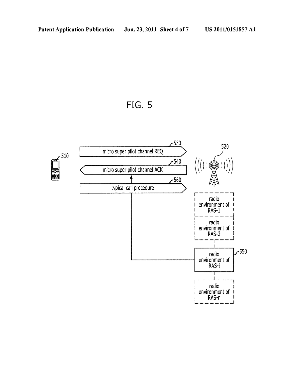 SYSTEM AND METHOD FOR RADIO ACCESS IN RECONFIGURABLE WIRELESS     COMMUNICATION SYSTEM - diagram, schematic, and image 05