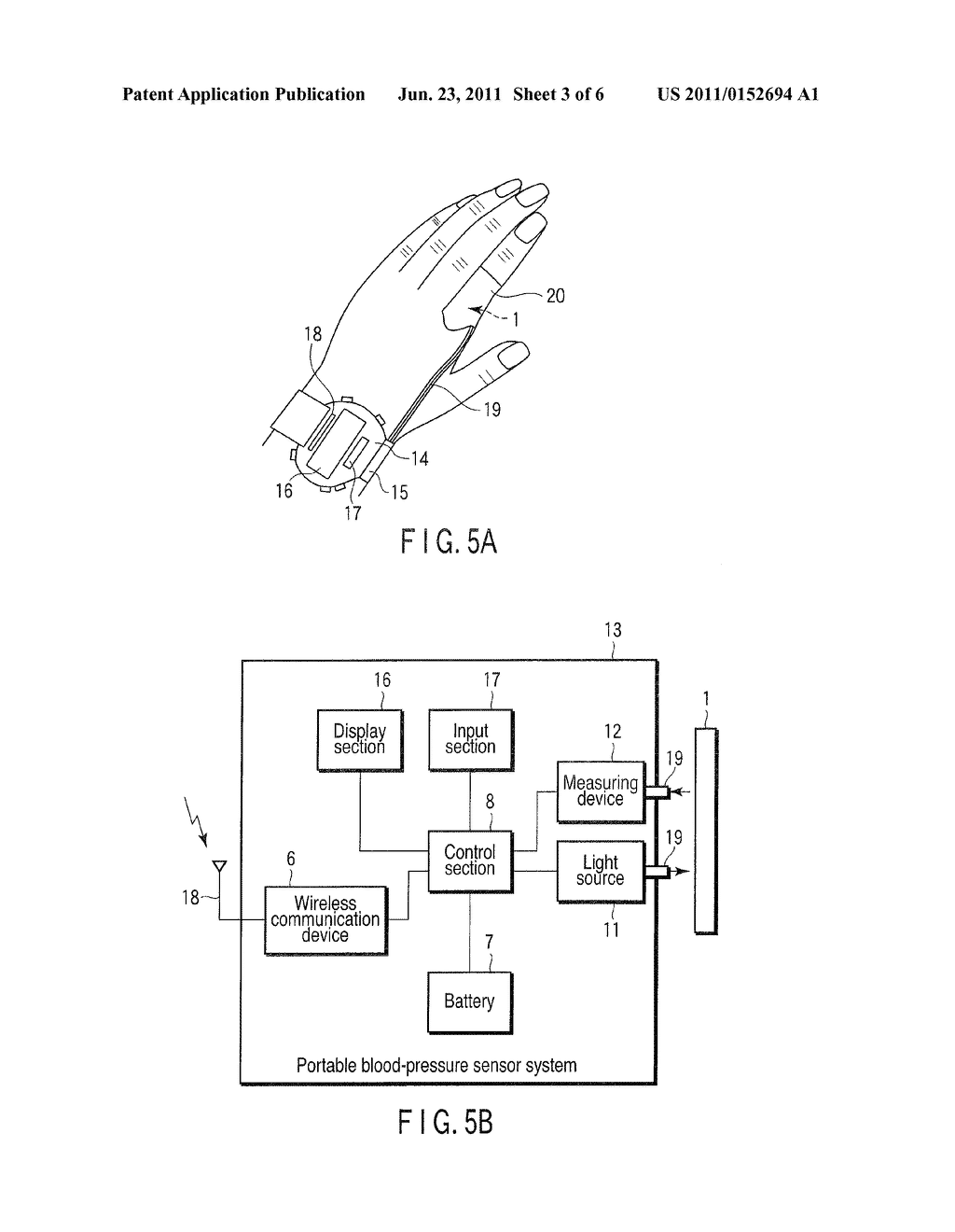 BLOOD-PRESSURE SENSOR, MANUFACTURING METHOD THEREOF, AND BLOOD-PRESSURE     SENSOR SYSTEM - diagram, schematic, and image 04
