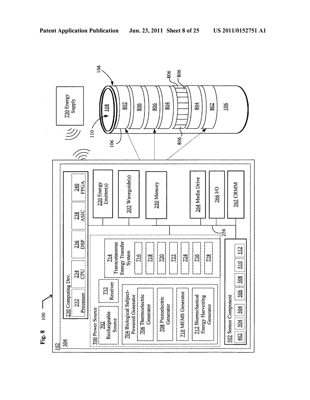 Systems, devices, and methods including catheters having UV-Energy     emitting coatings - diagram, schematic, and image 09