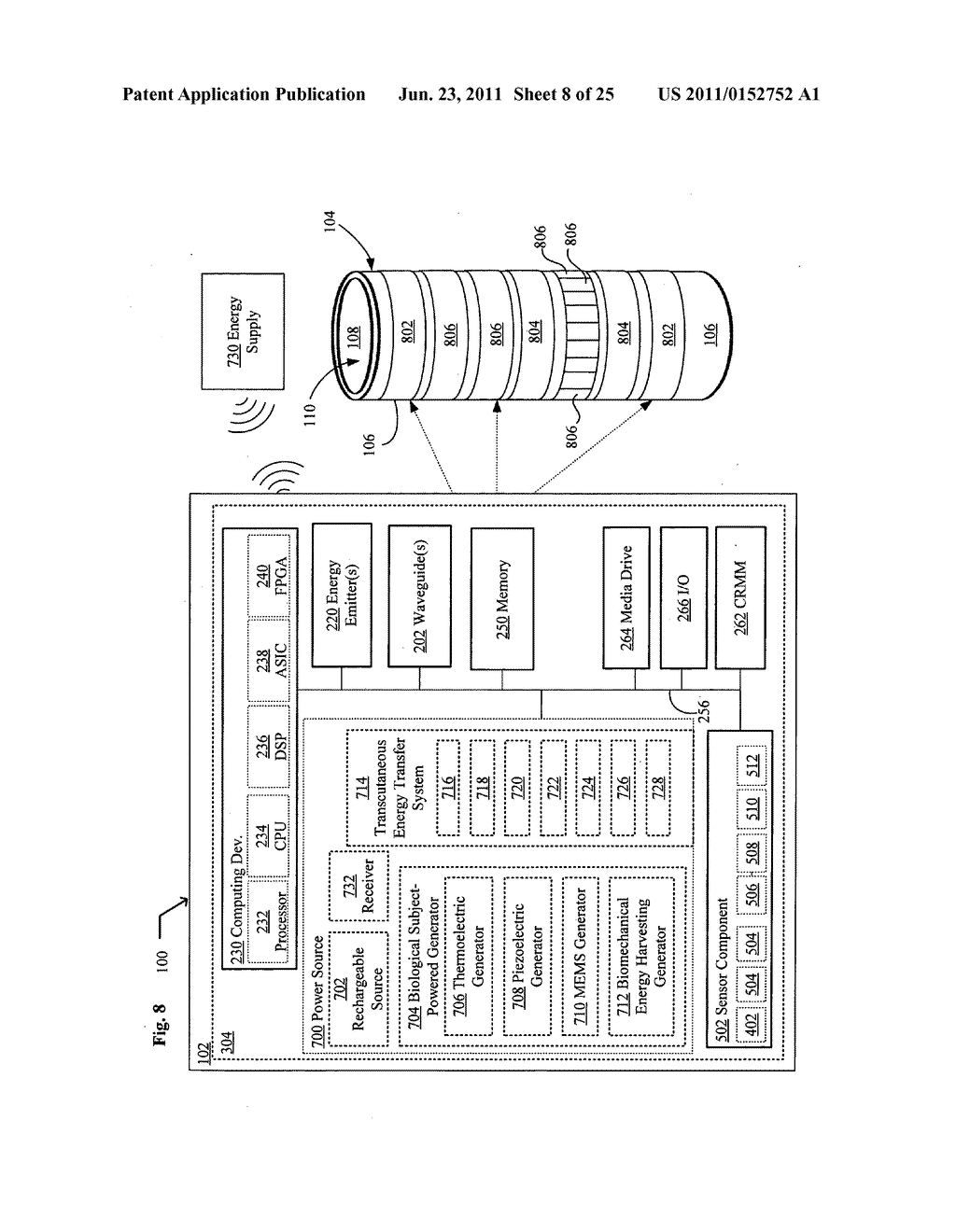 Systems, devices, and methods including catheters having components that     are actively controllable between transmissive and reflective states - diagram, schematic, and image 09