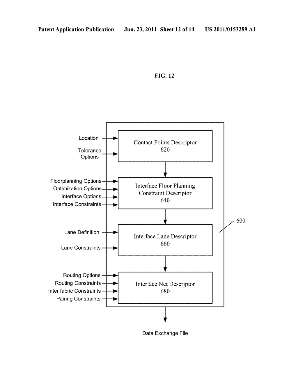 METHOD AND SYSTEM FOR SPECIFYING SYSTEM LEVEL CONSTRAINTS IN A     CROSS-FABRIC DESIGN ENVIRONMENT - diagram, schematic, and image 13