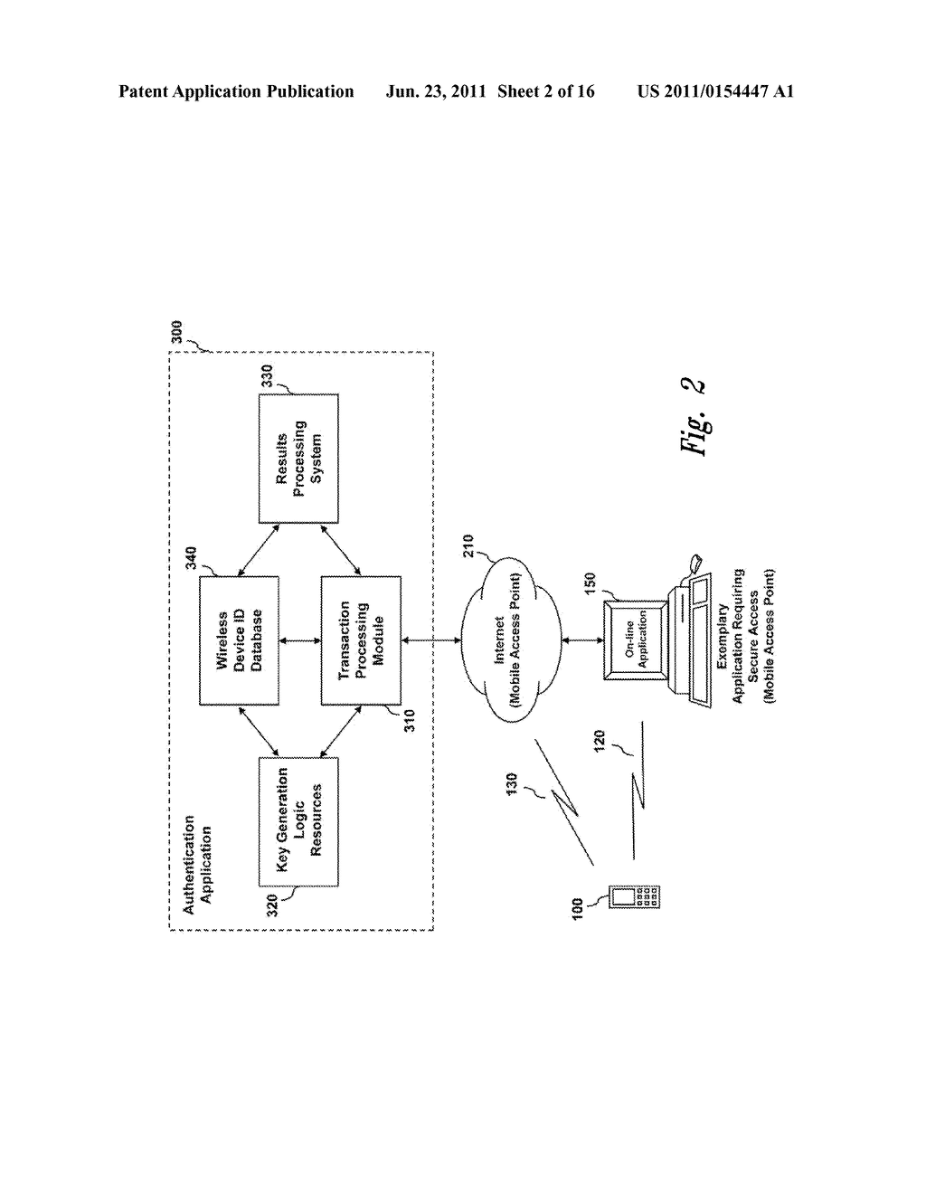 SYSTEMS AND METHODS FOR AUTHENTICATING A USER OF A COMPUTER APPLICATION,     NETWORK, OR DEVICE USING A WIRELESS DEVICE - diagram, schematic, and image 03