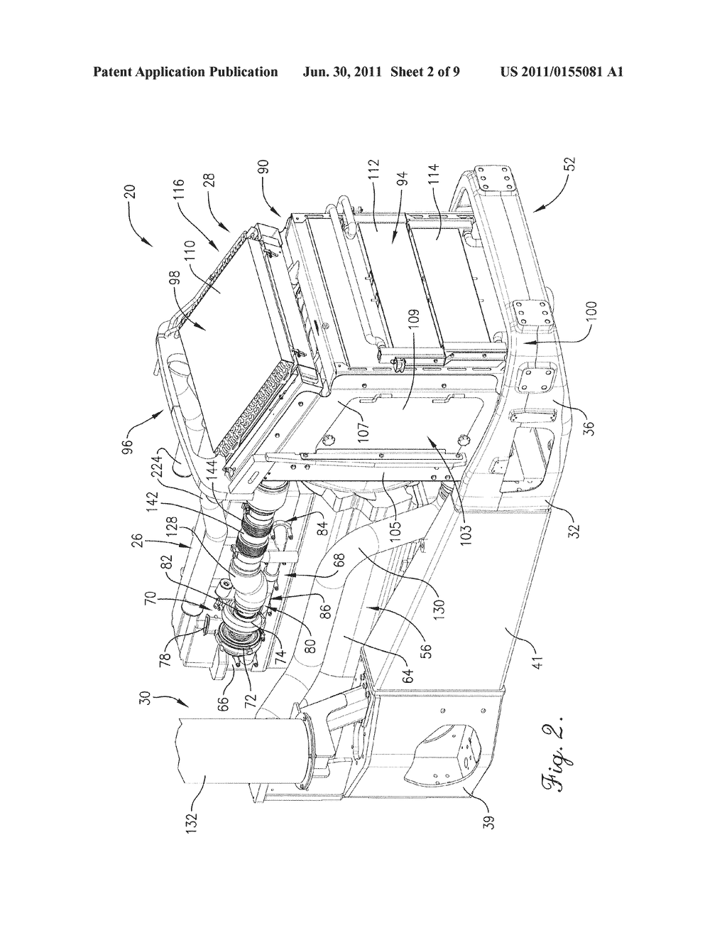 AGRICULTURAL VEHICLE COOLING ASSEMBLY FAN SHROUD WITH SEALS FOR     PASS-THROUGH COOLING AND EXHAUST TUBES - diagram, schematic, and image 03