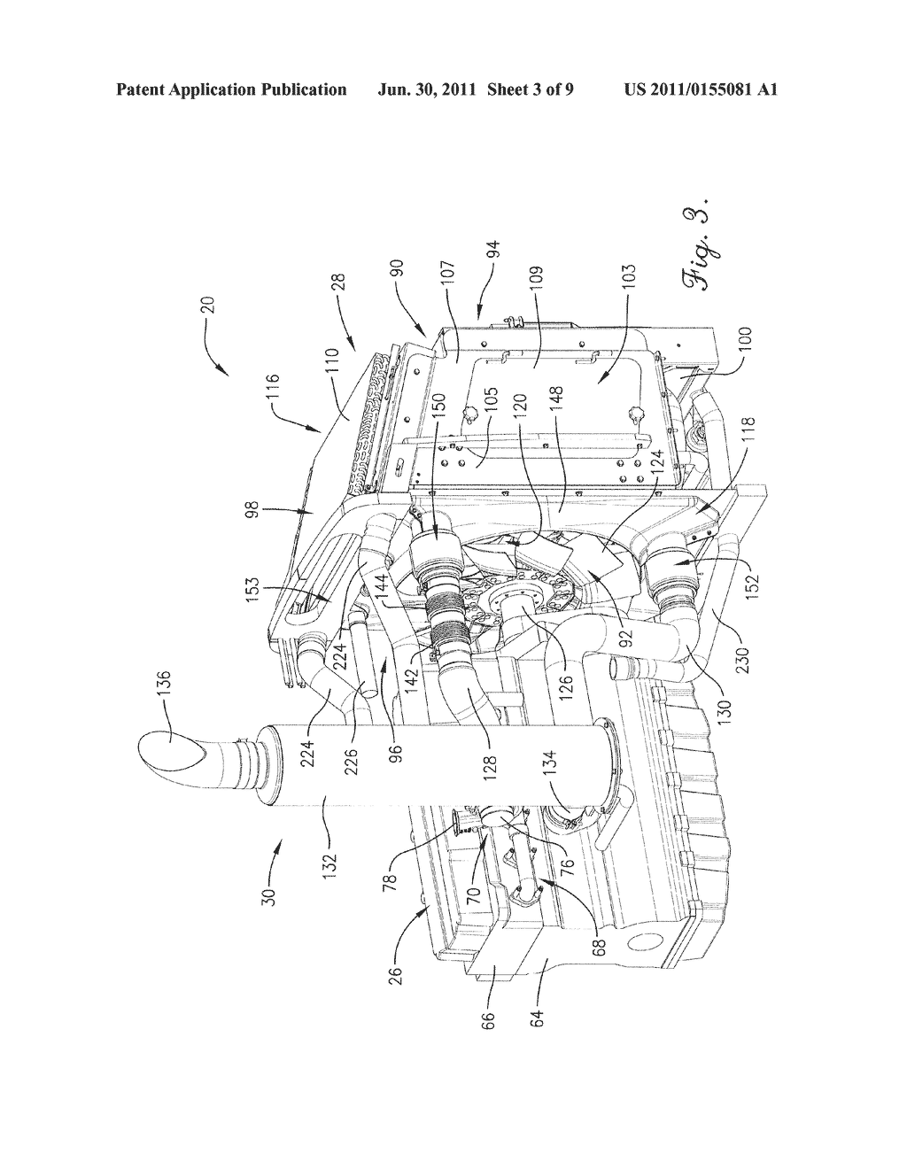 AGRICULTURAL VEHICLE COOLING ASSEMBLY FAN SHROUD WITH SEALS FOR     PASS-THROUGH COOLING AND EXHAUST TUBES - diagram, schematic, and image 04