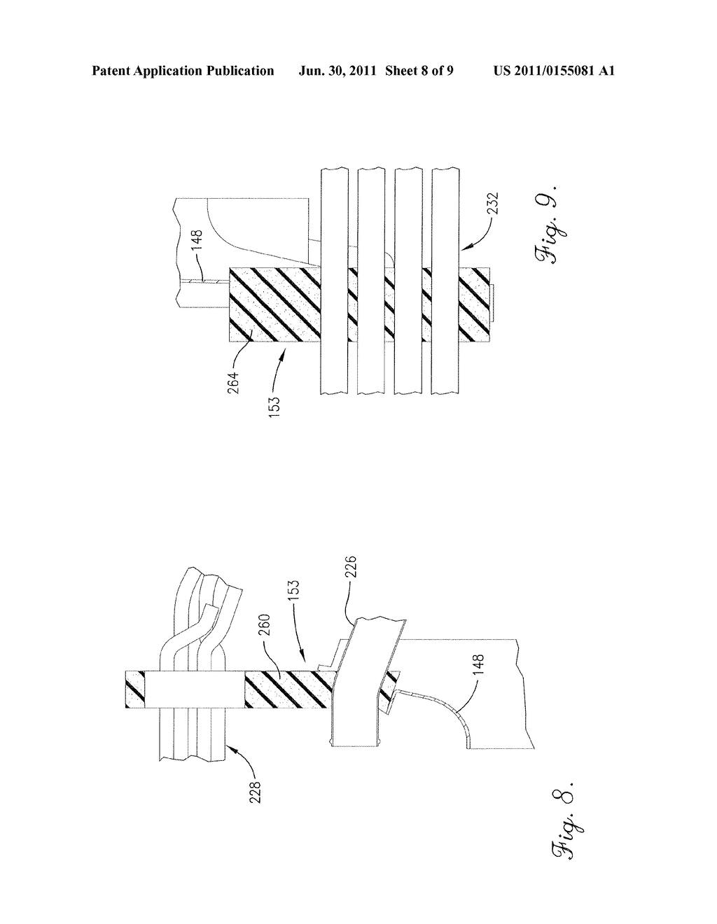 AGRICULTURAL VEHICLE COOLING ASSEMBLY FAN SHROUD WITH SEALS FOR     PASS-THROUGH COOLING AND EXHAUST TUBES - diagram, schematic, and image 09