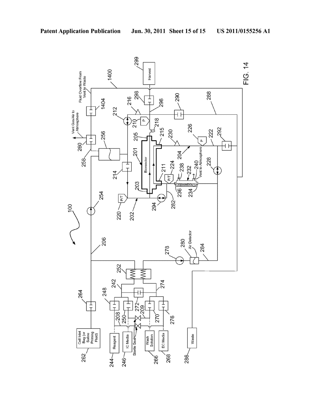 Air Removal Chamber for a Cell Expansion System and Method of Use     Associated Therewith - diagram, schematic, and image 16