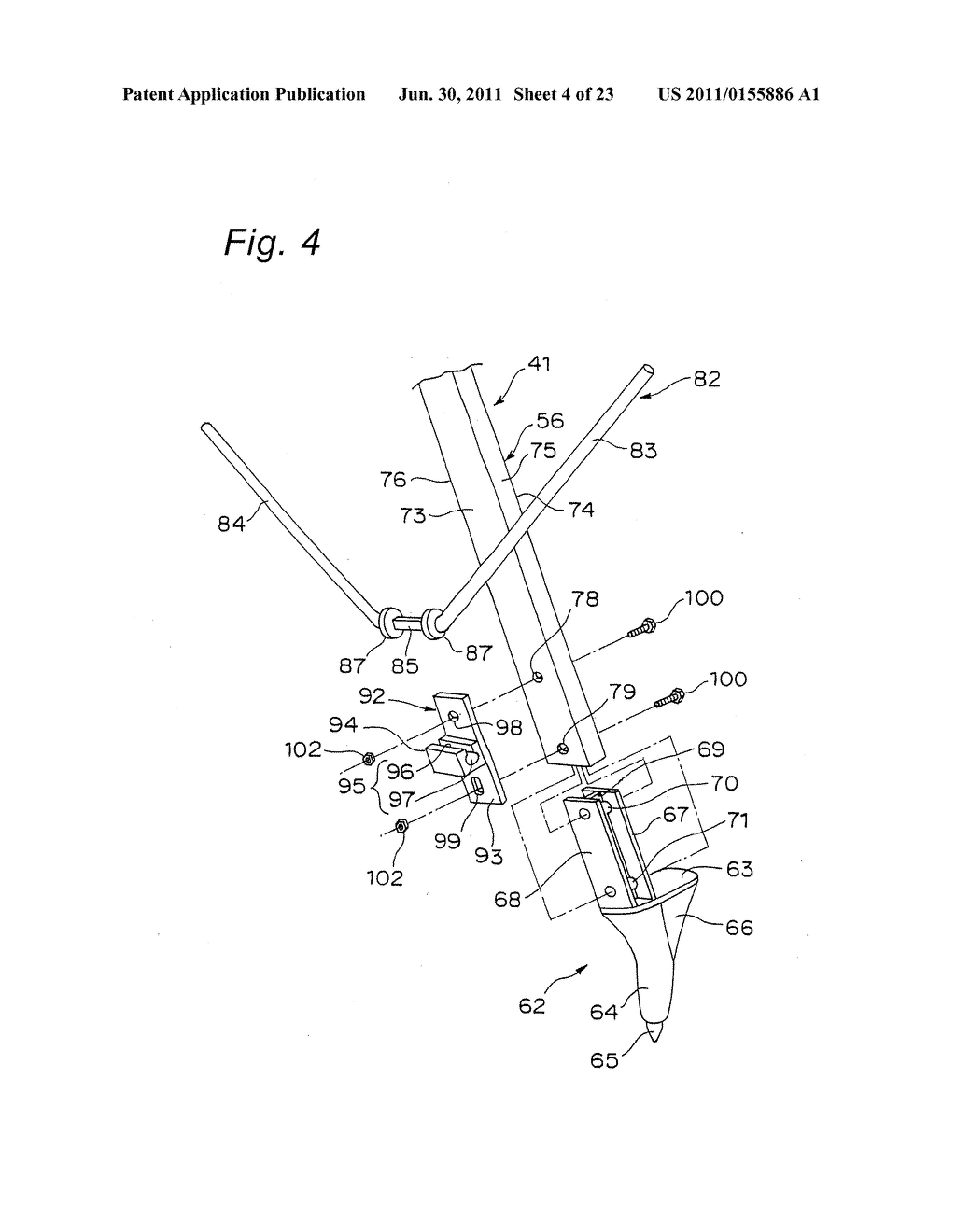 TRIPOD-SUPPORTING DEVICE, TRIPOD, SUPPORT MEMBER FOR TRIPOD AND METHOD FOR     SUPPORTING TRIPOD - diagram, schematic, and image 05