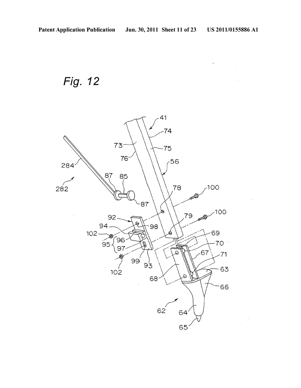 TRIPOD-SUPPORTING DEVICE, TRIPOD, SUPPORT MEMBER FOR TRIPOD AND METHOD FOR     SUPPORTING TRIPOD - diagram, schematic, and image 12