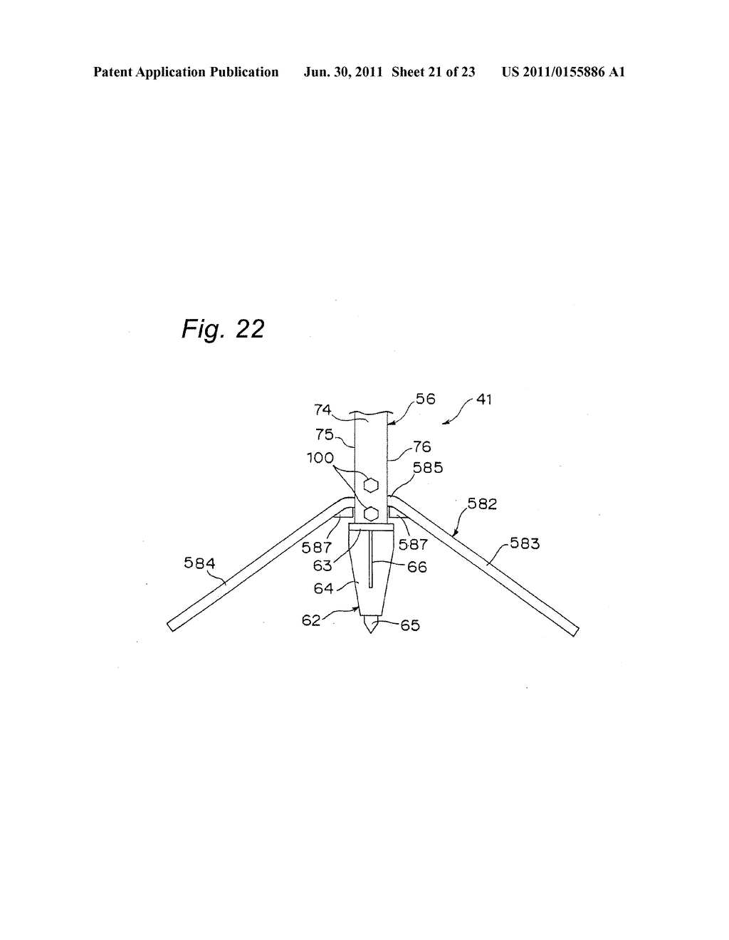 TRIPOD-SUPPORTING DEVICE, TRIPOD, SUPPORT MEMBER FOR TRIPOD AND METHOD FOR     SUPPORTING TRIPOD - diagram, schematic, and image 22