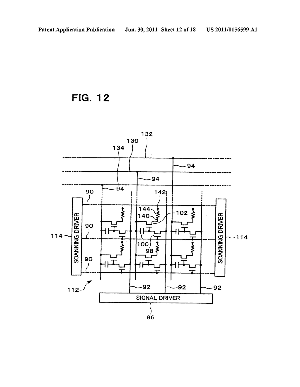 ELECTRONIC MODULE, METHODS OF MANUFACTURING AND DRIVING THE SAME, AND     ELECTRONIC INSTRUMENT - diagram, schematic, and image 13