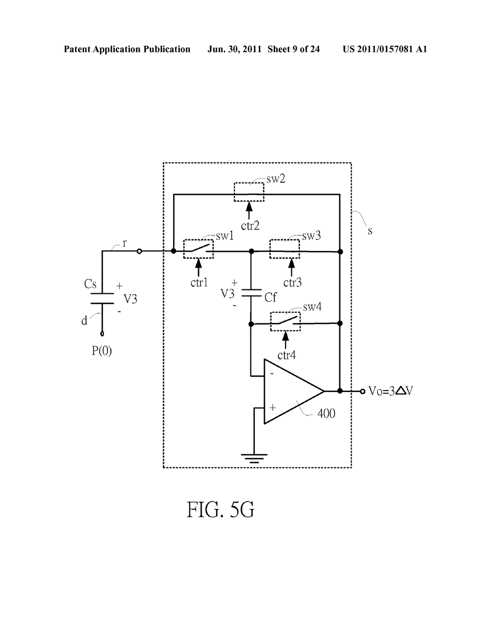 SENSING CIRCUIT FOR USE WITH CAPACITIVE TOUCH PANEL - diagram, schematic, and image 10