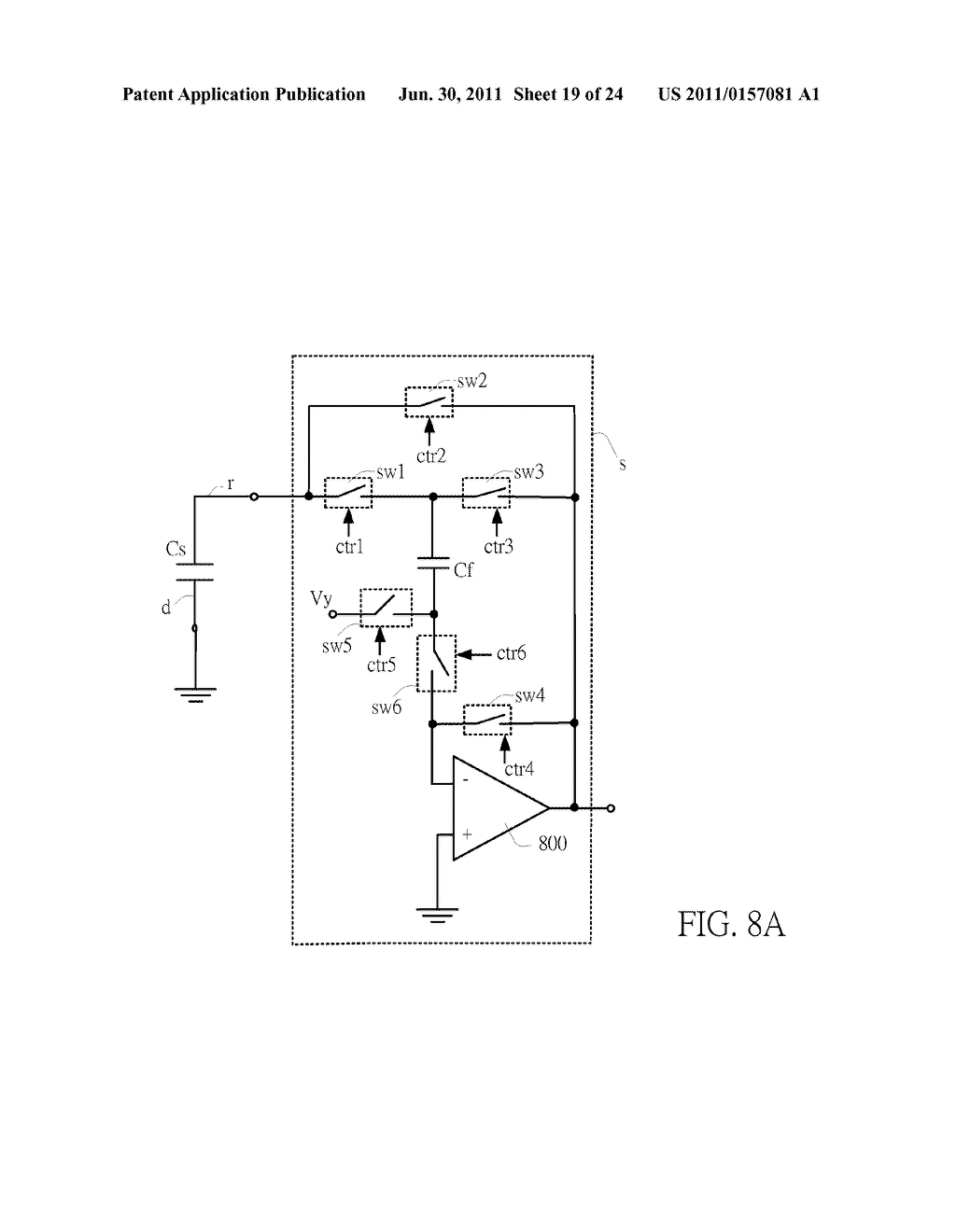 SENSING CIRCUIT FOR USE WITH CAPACITIVE TOUCH PANEL - diagram, schematic, and image 20