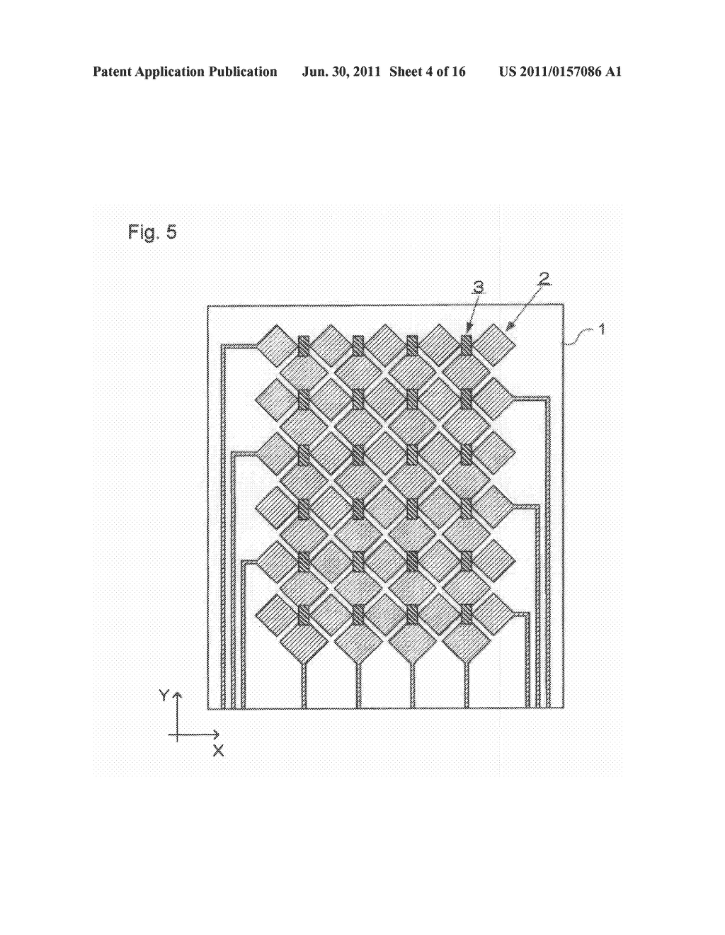 ELECTROSTATIC CAPACITY TYPE TOUCH PANEL, DISPLAY DEVICE AND PROCESS FOR     PRODUCING ELECTROSTATIC CAPACITY TYPE TOUCH PANEL - diagram, schematic, and image 05