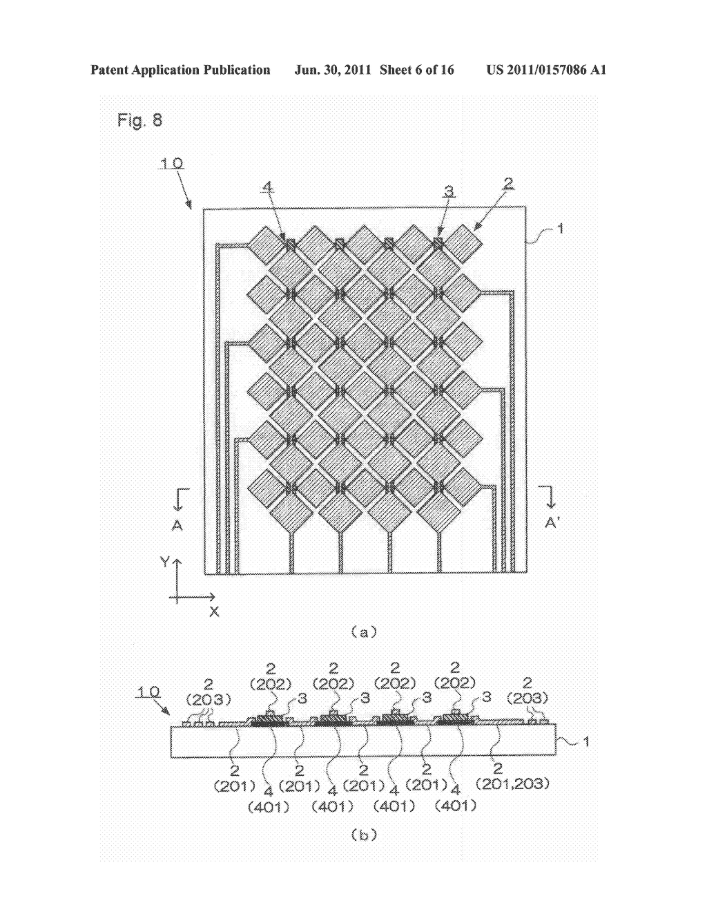 ELECTROSTATIC CAPACITY TYPE TOUCH PANEL, DISPLAY DEVICE AND PROCESS FOR     PRODUCING ELECTROSTATIC CAPACITY TYPE TOUCH PANEL - diagram, schematic, and image 07