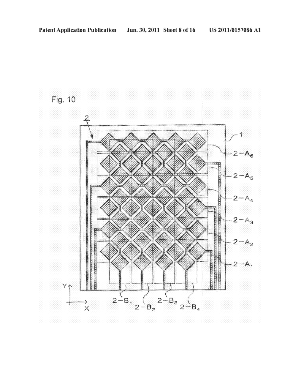 ELECTROSTATIC CAPACITY TYPE TOUCH PANEL, DISPLAY DEVICE AND PROCESS FOR     PRODUCING ELECTROSTATIC CAPACITY TYPE TOUCH PANEL - diagram, schematic, and image 09