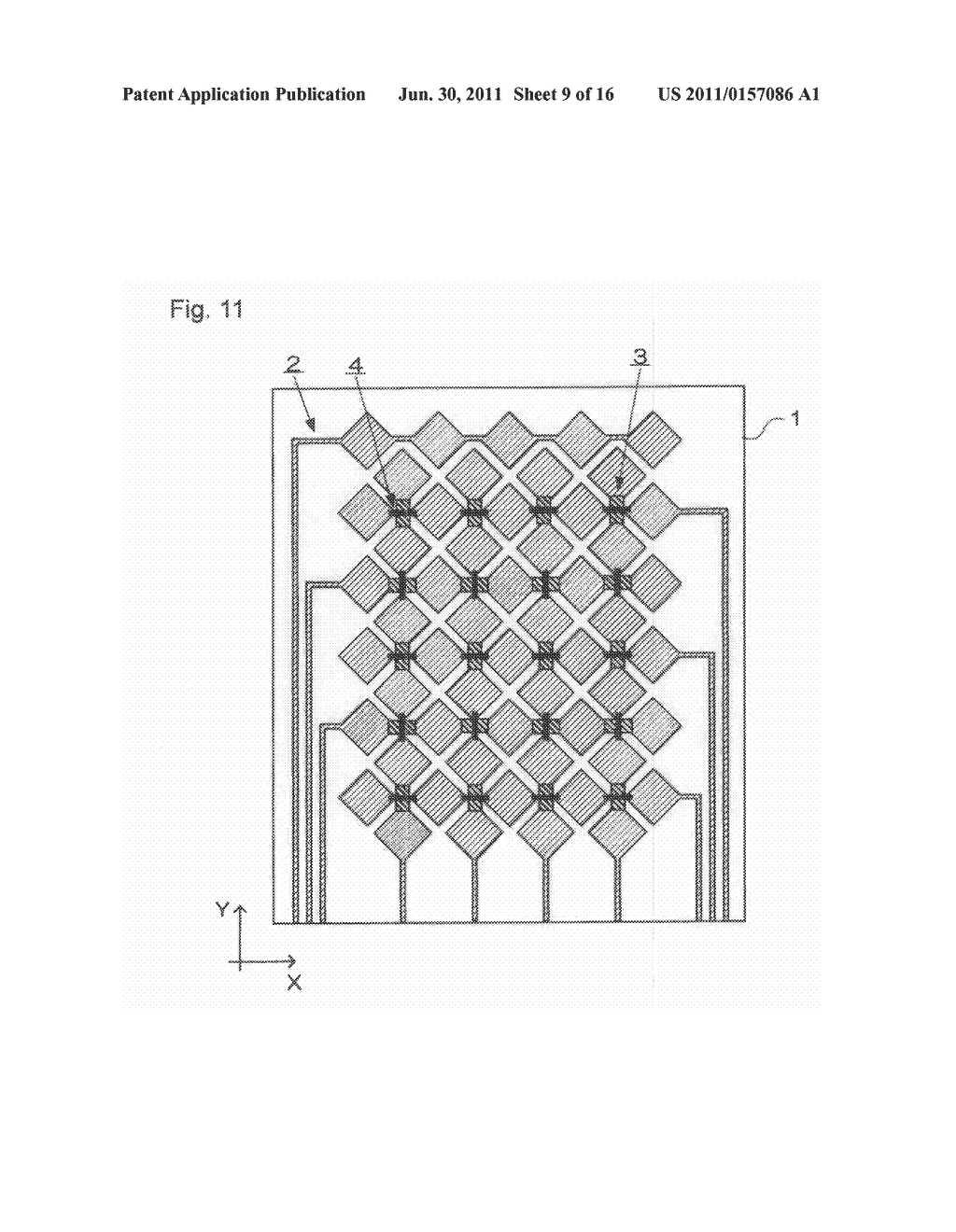 ELECTROSTATIC CAPACITY TYPE TOUCH PANEL, DISPLAY DEVICE AND PROCESS FOR     PRODUCING ELECTROSTATIC CAPACITY TYPE TOUCH PANEL - diagram, schematic, and image 10