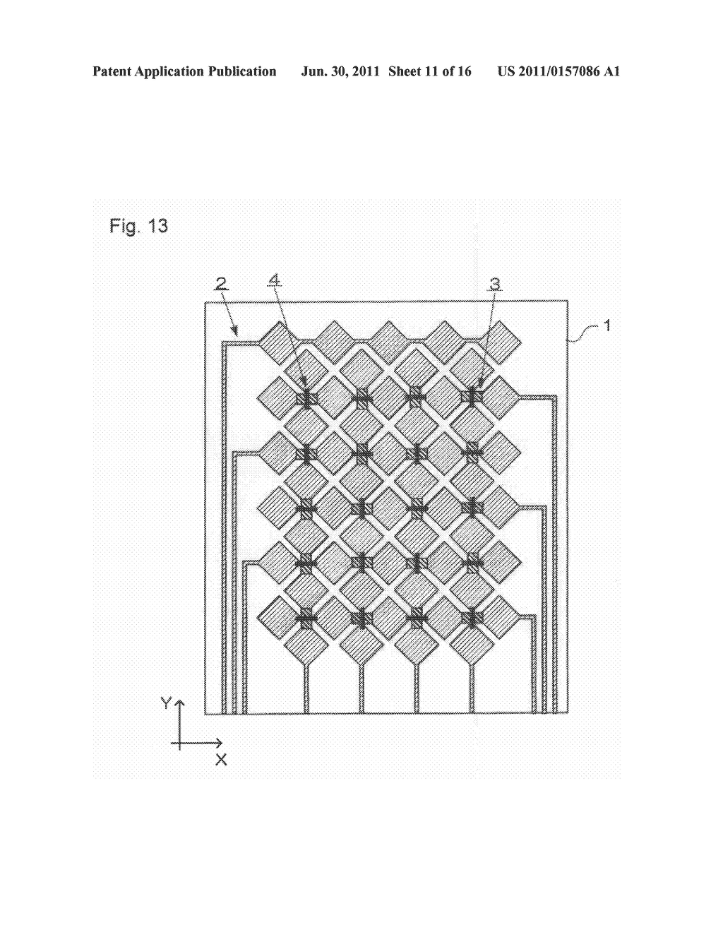 ELECTROSTATIC CAPACITY TYPE TOUCH PANEL, DISPLAY DEVICE AND PROCESS FOR     PRODUCING ELECTROSTATIC CAPACITY TYPE TOUCH PANEL - diagram, schematic, and image 12