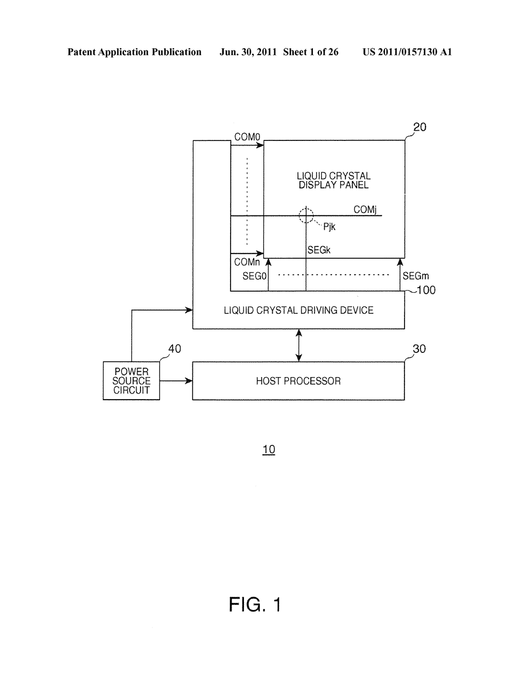 DRIVING METHOD OF ELECTRO OPTICAL DEVICE, DRIVING DEVICE OF ELECTRO     OPTICAL DEVICE, ELECTRO OPTICAL DEVICE, AND ELECTRONIC INSTRUMENT - diagram, schematic, and image 02