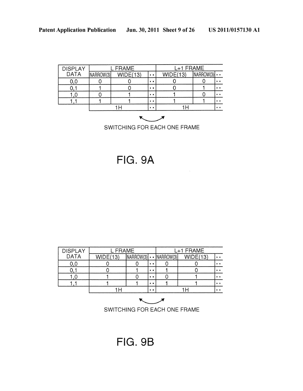 DRIVING METHOD OF ELECTRO OPTICAL DEVICE, DRIVING DEVICE OF ELECTRO     OPTICAL DEVICE, ELECTRO OPTICAL DEVICE, AND ELECTRONIC INSTRUMENT - diagram, schematic, and image 10