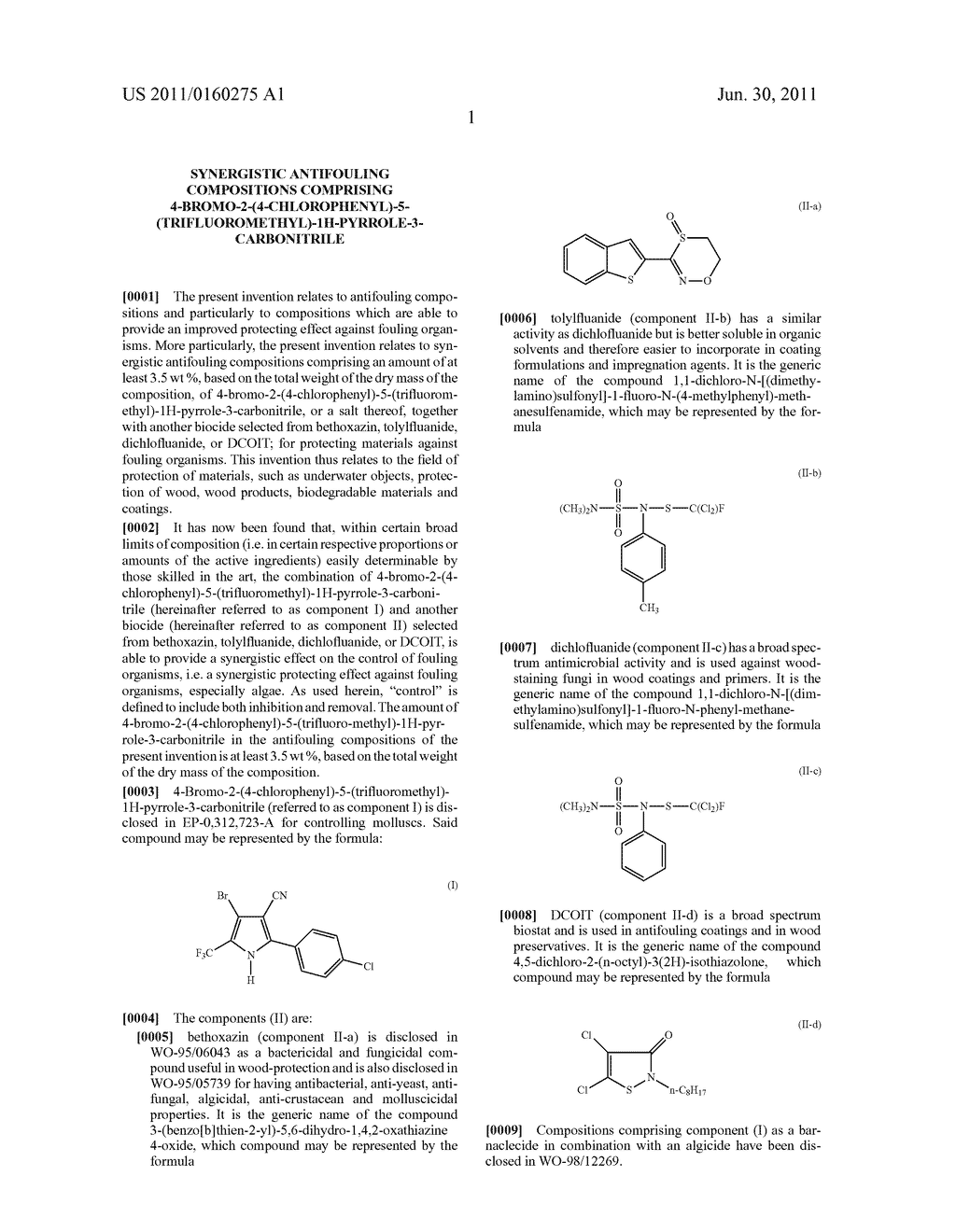 SYNERGISTIC ANTIFOULING COMPOSITIONS COMPRISING     4-BROMO-2-(4-CHLOROPHENYL)-5-(TRIFLUOROMETHYL)-1H-PYRROLE-3-CARBONITRILE - diagram, schematic, and image 02