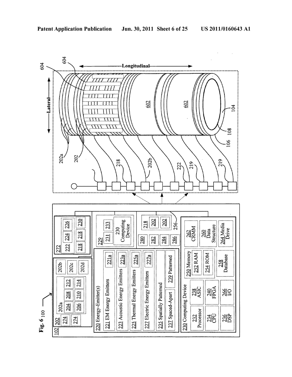 Systems, devices, and methods including catheters having acoustically     actuatable waveguide components for delivering a sterilizing stimulus to     a region proximate a surface of the catheter - diagram, schematic, and image 07