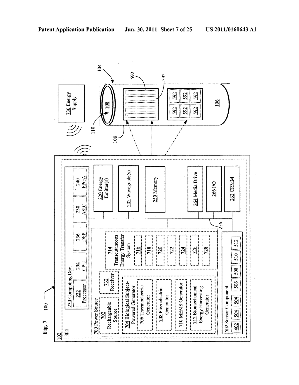Systems, devices, and methods including catheters having acoustically     actuatable waveguide components for delivering a sterilizing stimulus to     a region proximate a surface of the catheter - diagram, schematic, and image 08