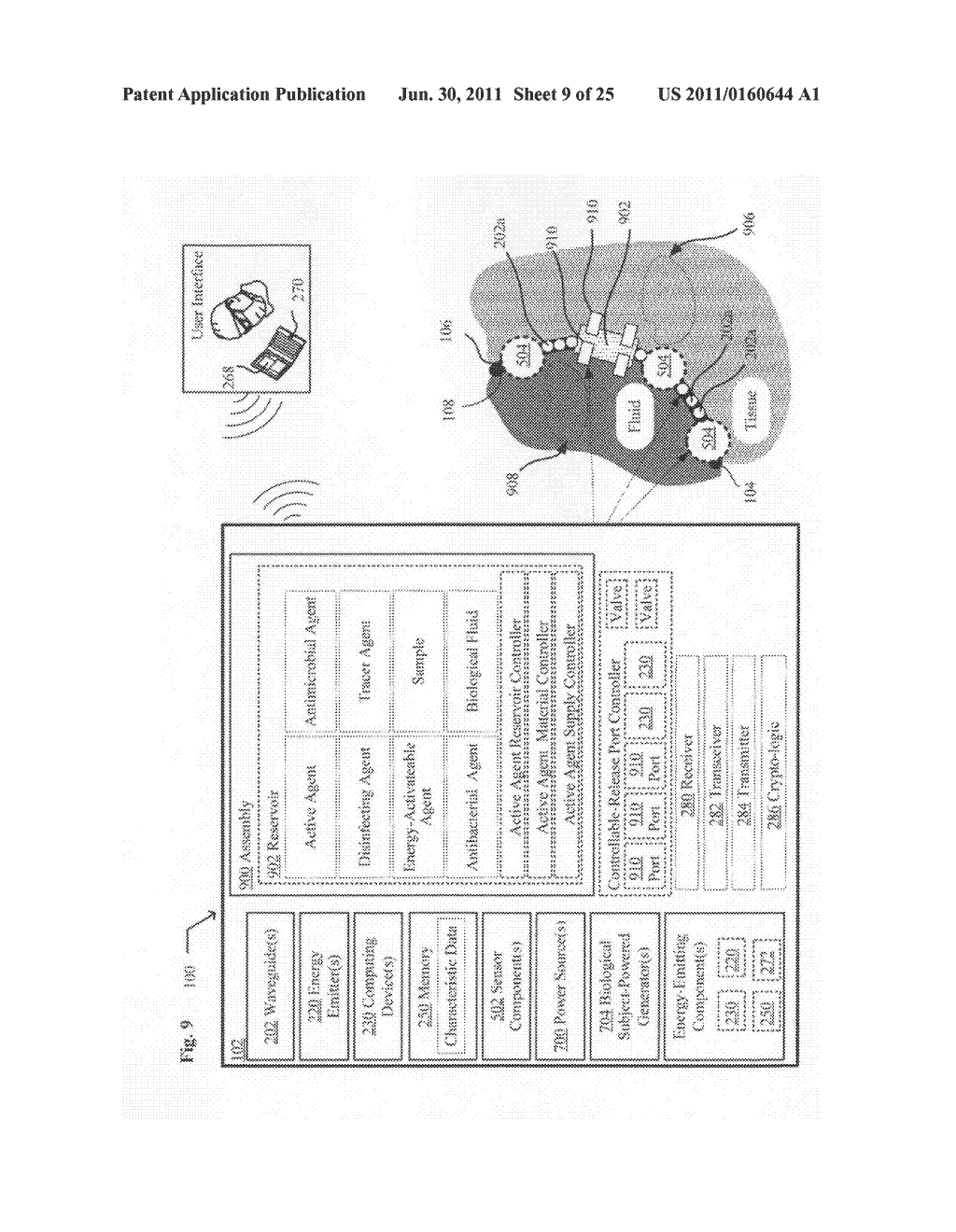 Systems, devices, and methods including catheters configured to release     ultraviolet energy absorbing agents - diagram, schematic, and image 11