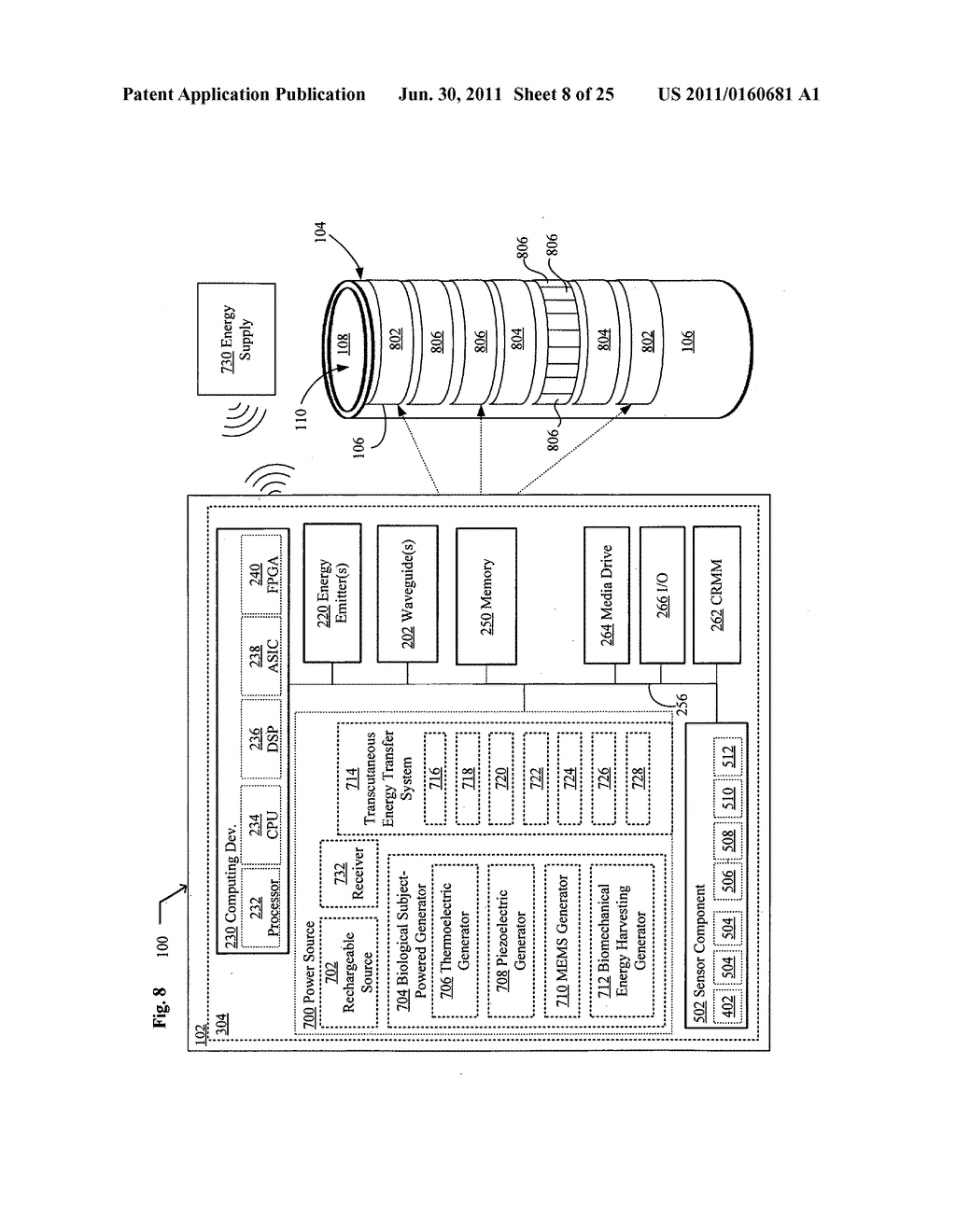 Systems, devices, and methods including catheters having light removable     coatings based on a sensed condition - diagram, schematic, and image 09