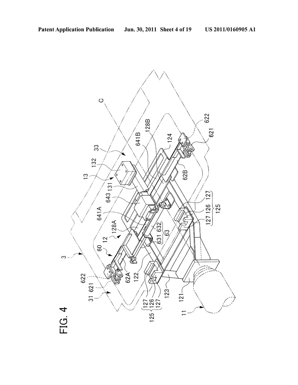 WORKPIECE MOUNTING SYSTEM, WORKPIECE MOUNTING METHOD, SUNROOF UNIT HOLDING     DEVICE, AND SUNROOF UNIT HOLDING METHOD - diagram, schematic, and image 05