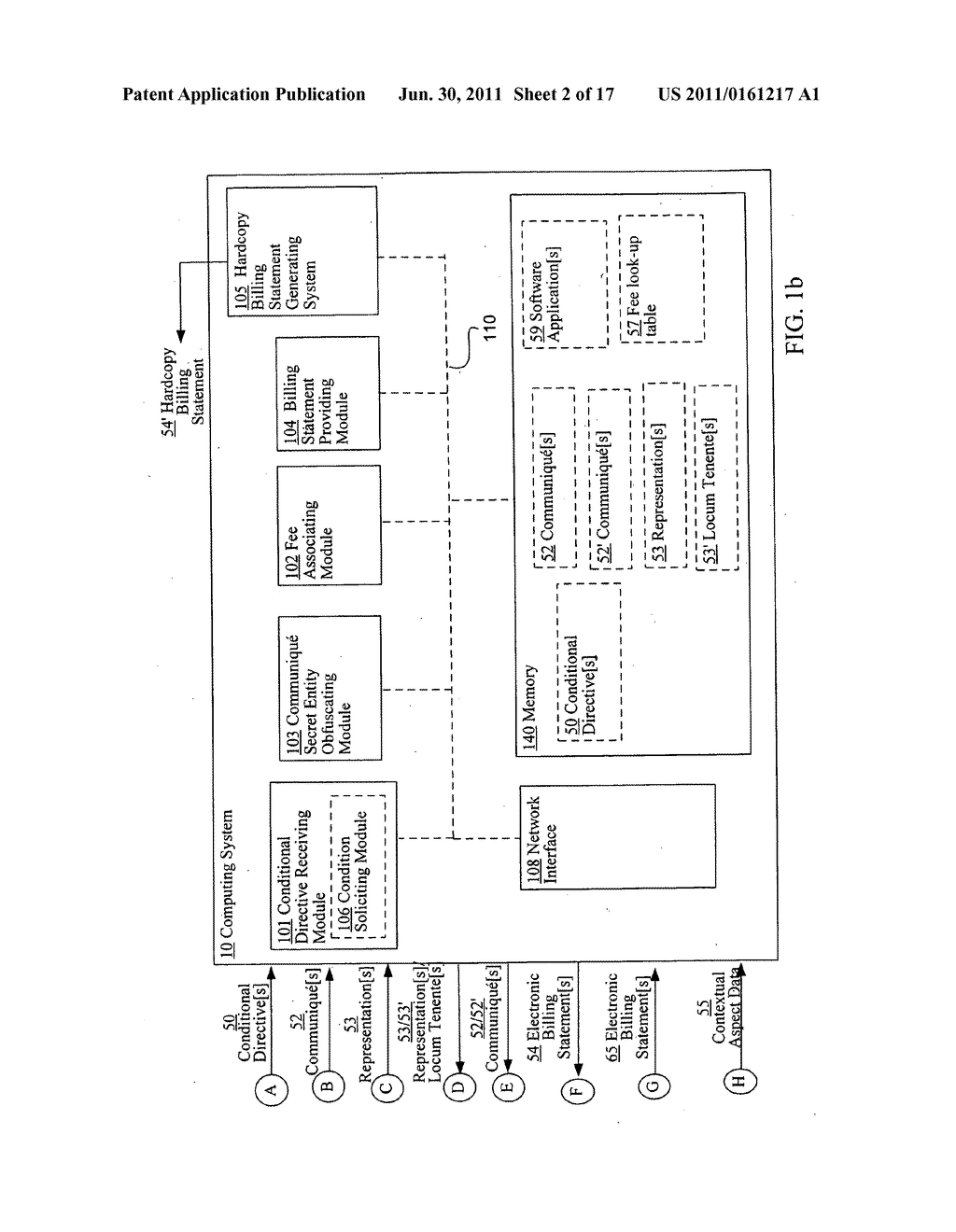 Conditionally obfuscating one or more secret entities with respect to one     or more billing statements - diagram, schematic, and image 03