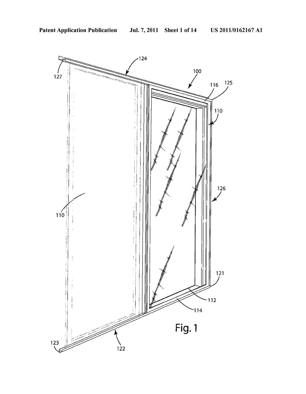 schematic of a screen door