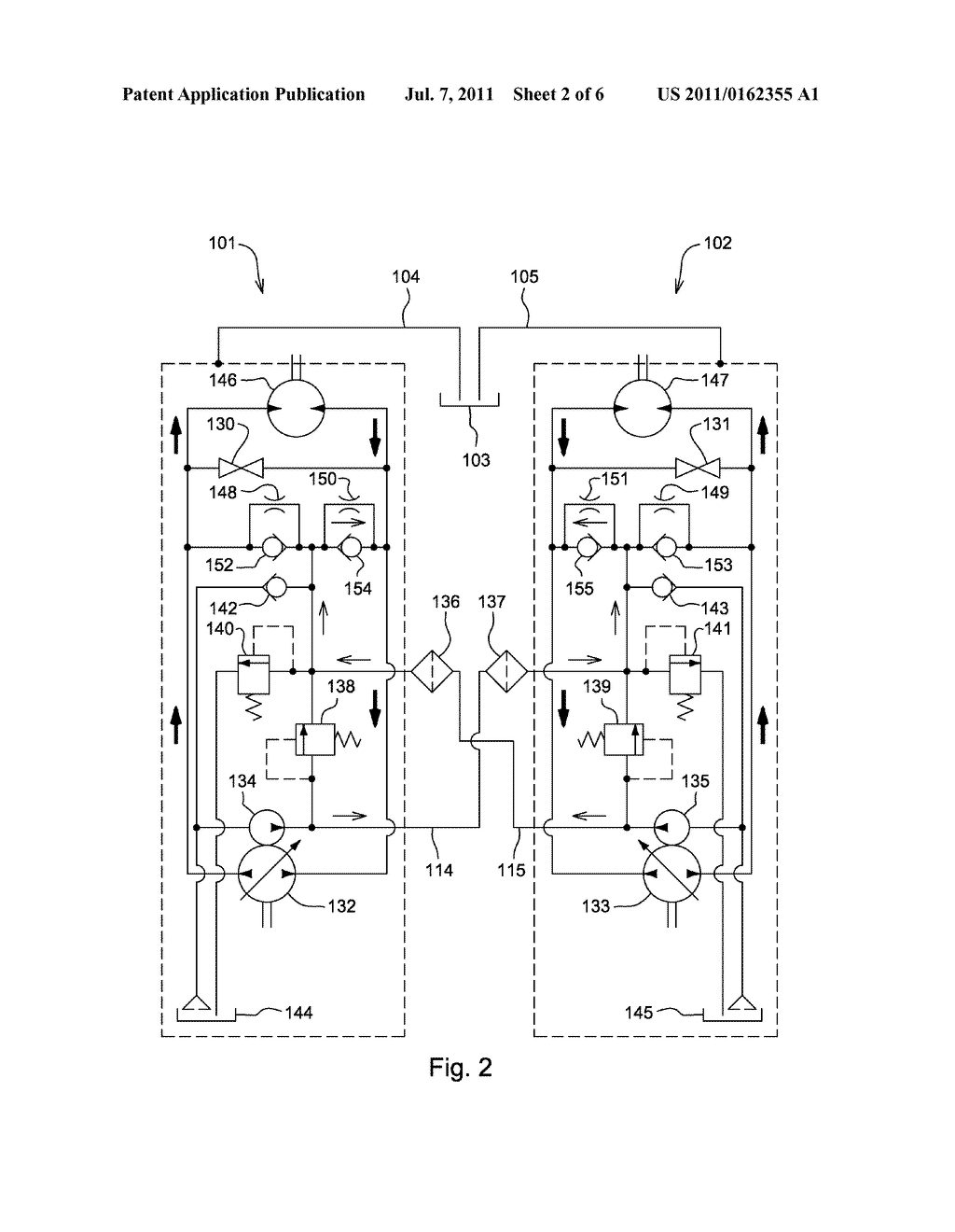 Hydraulic Fluid Cooling System For Pair Of Integrated Hydrostatic Valve Wiring Diagram Transmissions With Auxiliary Circuit Schematic And Image 03