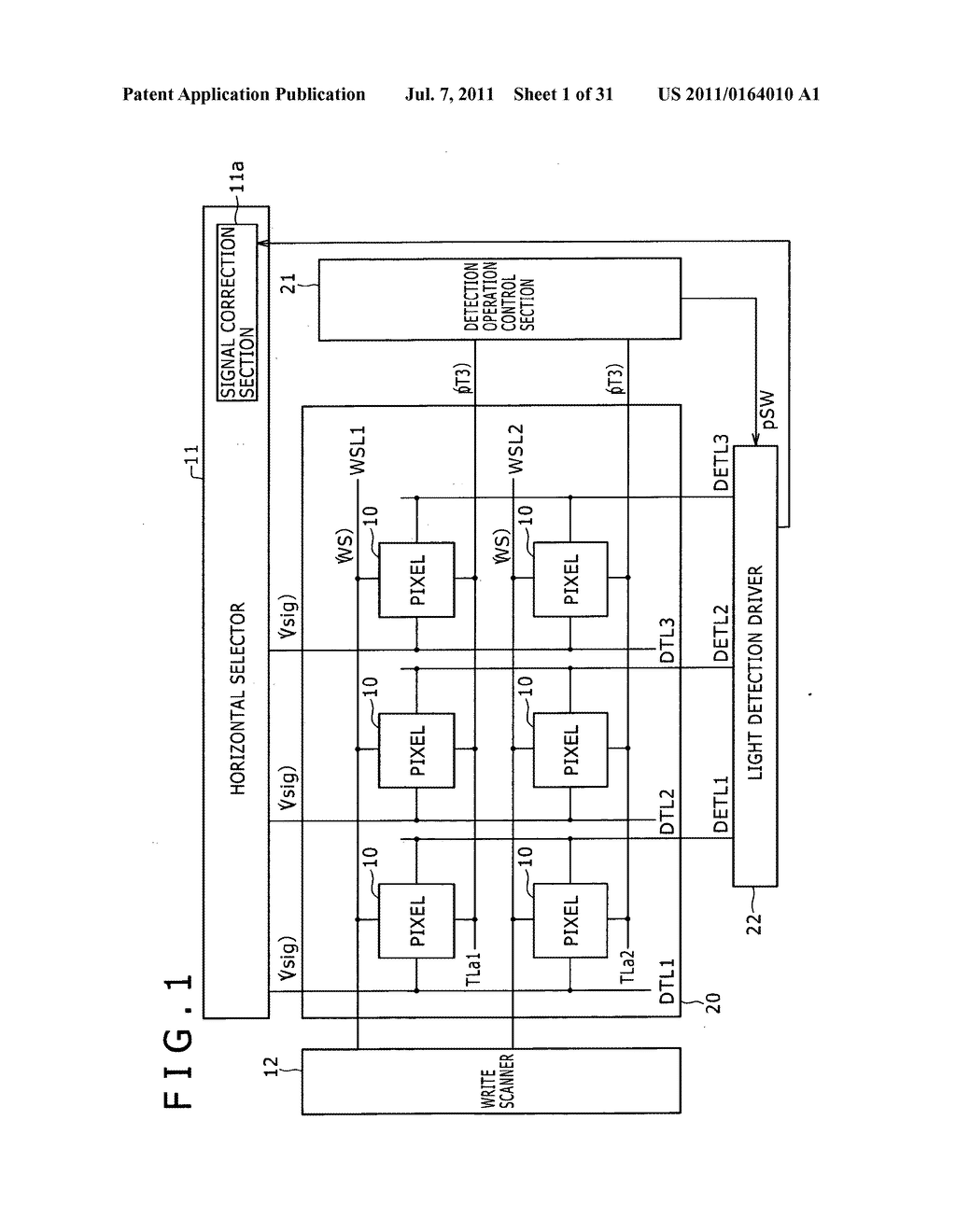 Display apparatus, light detection method and electronic apparatus - diagram, schematic, and image 02