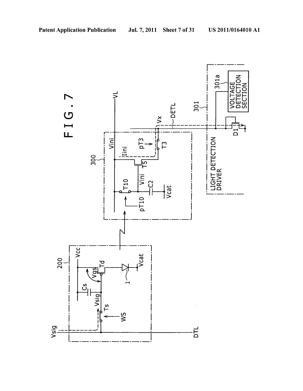 Display apparatus, light detection method and electronic apparatus - diagram, schematic, and image 08