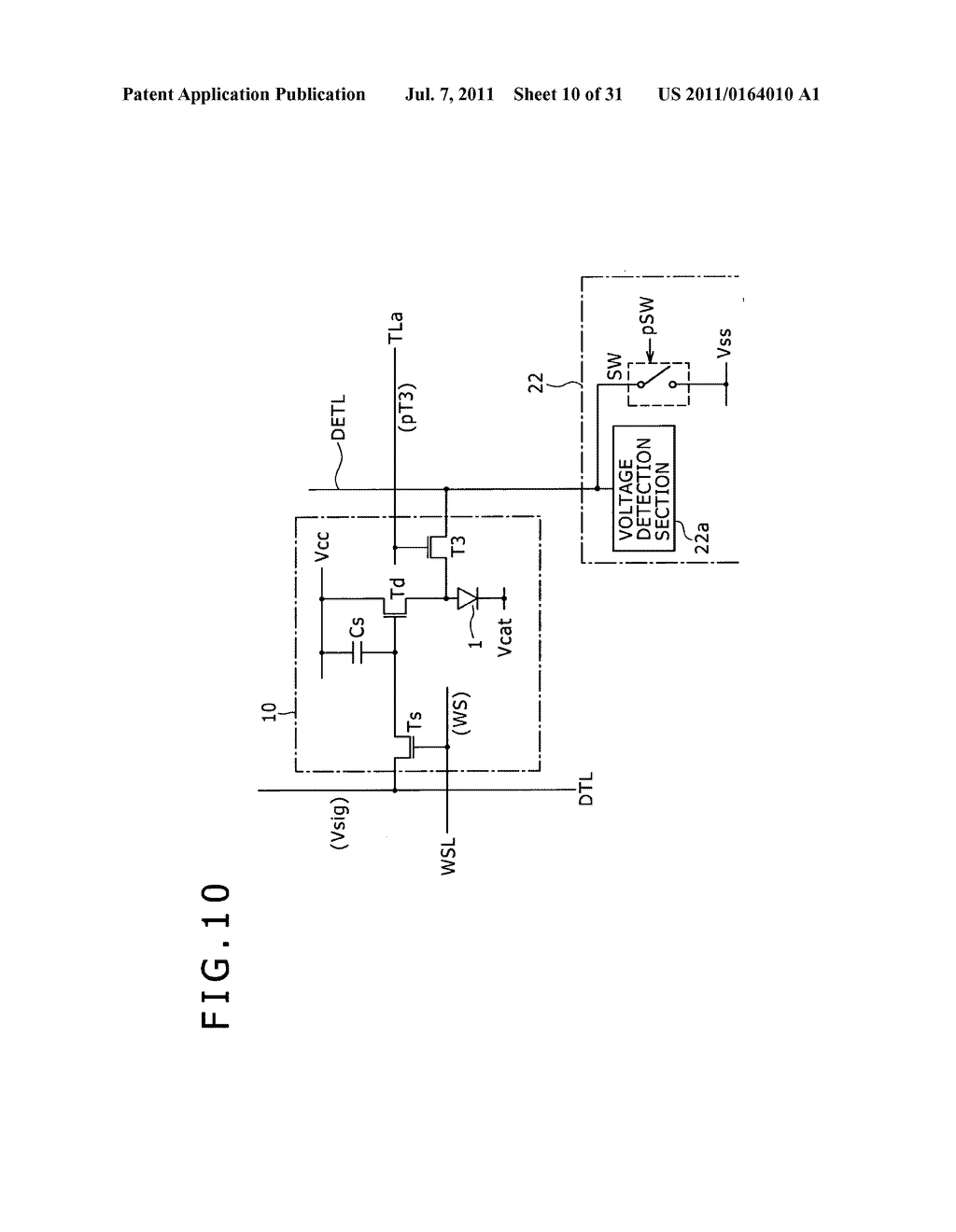 Display apparatus, light detection method and electronic apparatus - diagram, schematic, and image 11